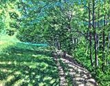 A walk underneath the foliage by Steen Lersten Petterson, Painting, Acrylic on board