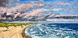 After The Storm (Aalbaek Bay) by Steen Lersten Petterson, Painting, Acrylic on canvas