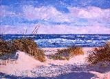 Beach scene by Steen Lersten Petterson, Painting, Acrylic on canvas