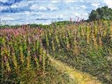 Footpath Through The Willowherbs by Steen Lersten Petterson, Painting, Oil on canvas