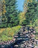 October beck by Steen Lersten Petterson, Painting, Oil on Board