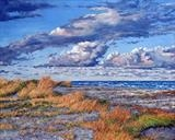 Rolling Clouds - Evening Sun by Steen Lersten Petterson, Painting, Oil on canvas