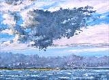 Shoreline cloud formation by Steen Lersten Petterson, Painting, Oil on canvas