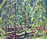 Spruce composition (1) by Steen Lersten Petterson, Painting, Acrylic on canvas
