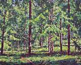 Spruce composition (2) by Steen Lersten Petterson, Painting, Acrylic on canvas