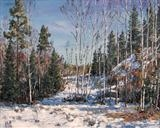 The Last Snow? by Steen Lersten Petterson, Painting, Oil on canvas