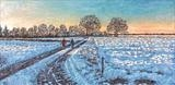Winter Morning Walk by Steen Lersten Petterson, Painting, Oil on canvas
