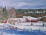 Winterdelight by Steen Lersten Petterson, Painting, Oil on canvas