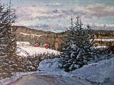 Winterview by Steen Lersten Petterson, Painting, Oil on canvas