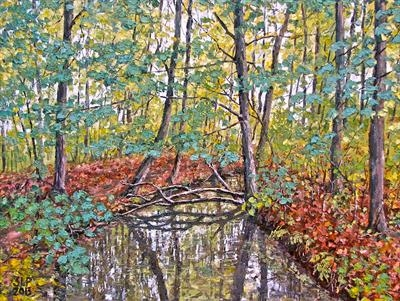 Autumn contrasts by Steen Lersten Petterson, Painting, Oil on canvas