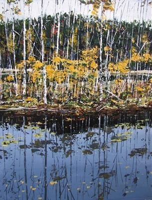 Autumn reflections by Steen Lersten Petterson, Painting, Acrylic on paper