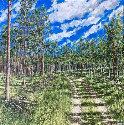 Between pine and birch by Steen Lersten Petterson, Painting
