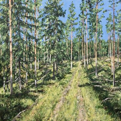 Hidden timbertrail by Steen Lersten Petterson, Painting, Acrylic on canvas