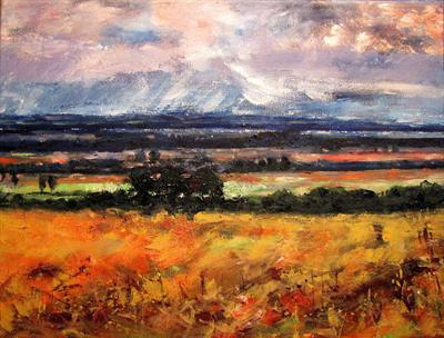 September fields - the original by Steen Lersten Petterson, Painting, Oil on canvas