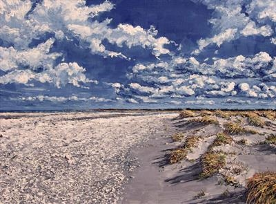 White Sand by Steen Lersten Petterson, Painting, Oil on canvas