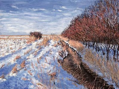 Winter Beck by Steen Lersten Petterson, Painting, Oil on canvas
